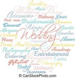 cloud., pianificazione, matrimonio
