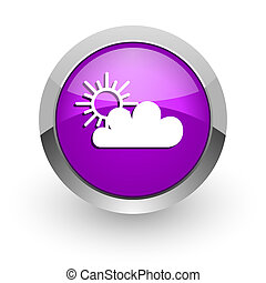 cloud pink glossy web icon