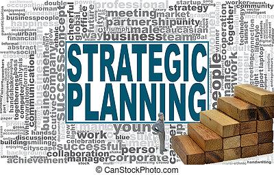 cloud., planification, mot, stratégique