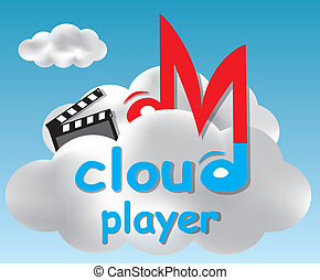 Player concept based on a cloud computing idea