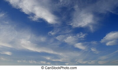 Cloud Plumes in a Blue Sky