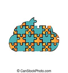 cloud puzzle pieces image