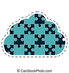 cloud puzzle solution image
