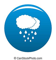 Cloud rain icon blue