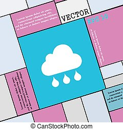 cloud rain icon sign. Modern flat style for your design. Vector
