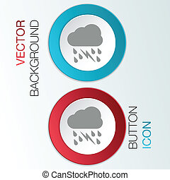 cloud rain lightning.  the weather icon