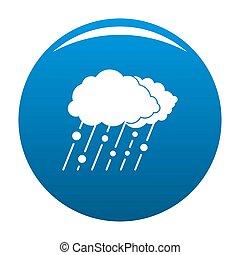 Cloud rain snow icon blue