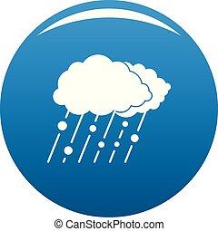 Cloud rain snow icon blue vector
