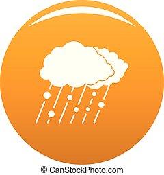 Cloud rain snow icon vector orange