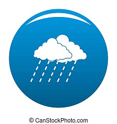 Cloud rain storm icon blue