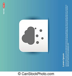Cloud Raining Icon - Blue Sticker button