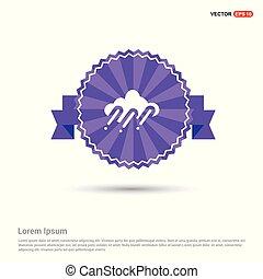 Cloud Raining Icon - Purple Ribbon banner