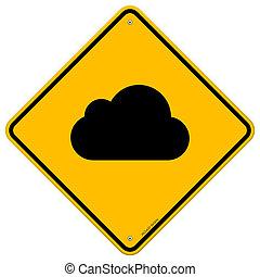 Cloud Road Sign