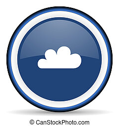 cloud round glossy icon, modern design web element