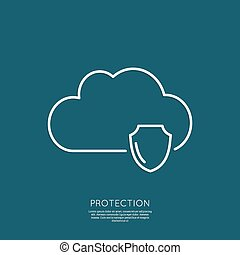 Cloud Security Concept.