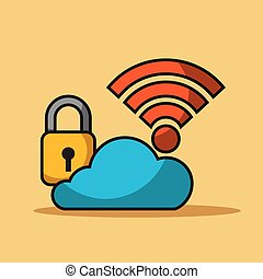 cloud security data internet connection storage