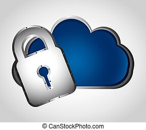 cloud security design, vector illustration eps10 graphic