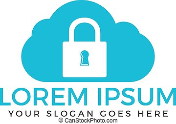 Cloud security logo design.