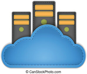 Cloud server - Cloud computing concept with servers in the...