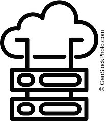 Cloud server icon, outline style