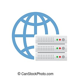 Cloud Server Vector Icon