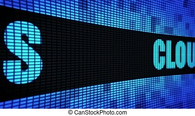 Cloud Services Side Text Scrolling LED Wall Pannel Display...