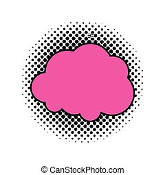 cloud shape isolated icon