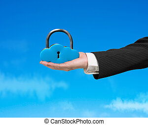 Cloud shape lock on hand