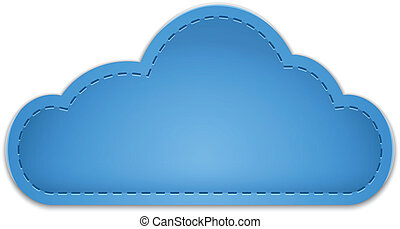 Cloud shape made of leather. Vector illustration