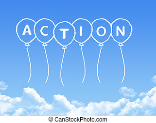Cloud shaped as action Message