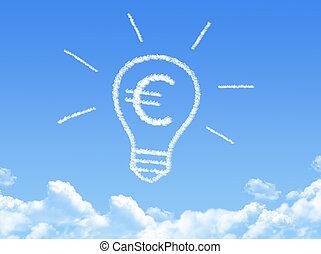 Cloud shaped as Idea of making money