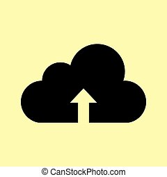 Cloud sign. Flat style icon