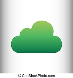 Cloud sign. Green gradient icon