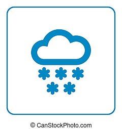 Cloud snow icon cartoon