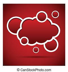 Cloud speech bubble.