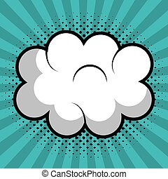 cloud speech pop art design