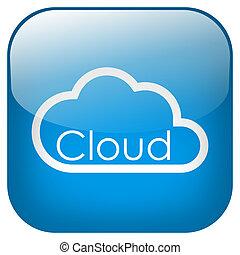 Cloud Square Button