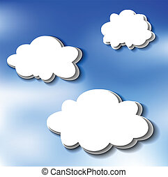 Cloud stickers on sky