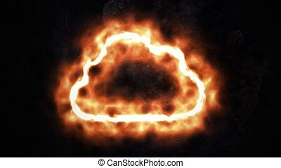 Cloud storage. Blazing Cloud Storage Sign 46. - Cloud...