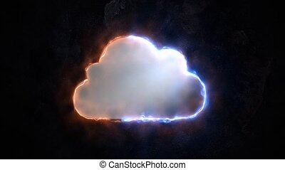Cloud storage. Blazing Cloud Storage Sign 50. - Cloud...