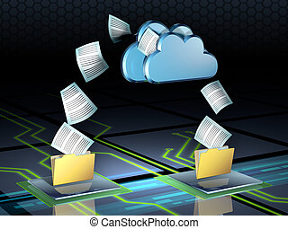 Cloud storage - Documents flying out of some folders and ...