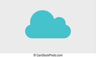 cloud storage icons - cloud storage with download arrow...