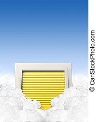 Cloud Storage Locker - A concept depicting a storage locker...