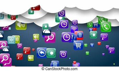 Cloud storage media data. Archive. - Cloud storage media...