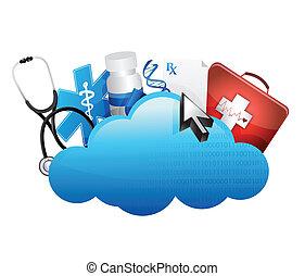 cloud storage medical concept