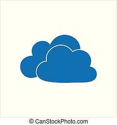 Cloud stylish logo and icon