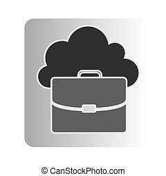 cloud suitcase network icon