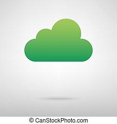 Cloud technologies. Green icon