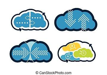 Cloud technology - communication concept