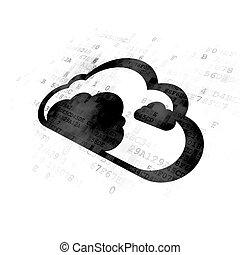 Cloud technology concept: Cloud on Digital background